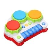 Musical Toys Musik Klaviertastatur Drums Elektronisches Lernen Spielzeug Spaß Spielen für Kleinkind Baby Kinder Lernspiel Rot