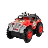 Auto elettrica per bambini Flip Toy Car Cartoon Puzzle Autocarro con cassone ribaltabile Off-road Rock Climber Climbing Red