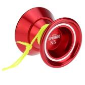Profesjonalna magia Yoyo N5 Desperado Aluminiowa stopka Metal Yoyo 8 Ball KK Łożyska z przędzeniem String dla dzieci Fioletowy