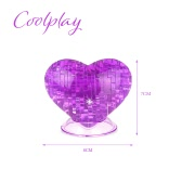 Coolplay 3D Puzzle Kryształu Miłość Kształt Model Dziecko DIY Zabawka Budowlana