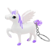 3D Unicorn Keychain novello per catene chiave a cavallo Ainme ha condotto il regalo di design freddo del regalo bello suono per i bambini