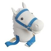 子供のためのぬいぐるみ人形に結ばれた馬の玩具模擬ギャロッピングの音感情的な仲間の屋内と屋外の遊び