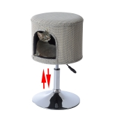 "23""-26"" Height Adjustable Modern Cat Condo - Beige"