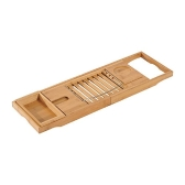 Bandeja de bañera de bambú ajustable