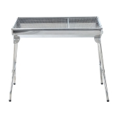 35 Inch Stainless Steel Portable Folding Charcoal BBQ Grill