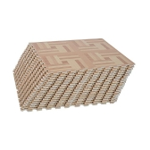 18 Tile Interlocking Puzzle Foam Floor Tile Mats - Light Wood Geometric