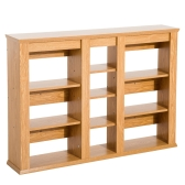 Wall Mount CD / DVD Media Storage Shelf Rack - Light Oak
