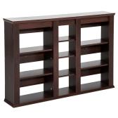 Wall Mount CD / DVD Media Storage Shelf Rack - Dark Oak