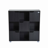 Cube Bookcase Storage Shelf Organizer (9 Cube  Black)
