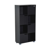Cube Bookcase Storage Shelf Organizer (8 Cube  Black)