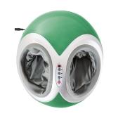 Massager de pés duplo multifuncional com calor e controle remoto - Verde