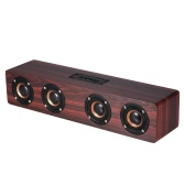 W8 Red Wood Grain BT Speaker BT 4.2 Four Louderspeakers Super Bass Subwoofer Hands-free with Mic 3.5mm AUX-IN TF Card 3000mAh Battery for Home