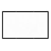H120 Ecran de projection pliable portable 16: 9 de 120 pouces, blanc
