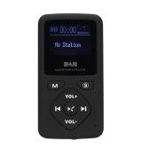 Receptor de rádio portátil DAB / DAB + / FM de bolso
