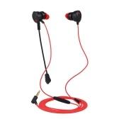 Écouteurs intra-auriculaires de jeu de 3.5mm avec le microphone
