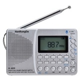 K-604 FM Stereo Radio AM WB with Time Display Card Line-in Recorder Multifunctional Radio MP3 Player Support TF Card