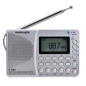 K-604 Rádio FM estéreo AM WB com cartão de exibição do tempo Gravador de entrada de linha Rádio multifuncional MP3 Player Suporte Cartão TF