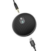 U3 USB Всенаправленный конденсаторный микрофон Микрофон для встреч Бизнес-конференция Компьютер Настольный ноутбук ПК Голосовой чат Видеоигры Прямая трансляция Звукосниматель с кабелем AUX 3,5 мм Type-C