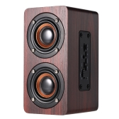 W5 Red Wood Grain Speaker Bluetooth 4.2  Dark