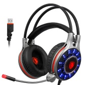SADES R11 USB Wired Gmaing Headset com luz LED