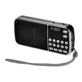 Y-501 Mini rádio digital portátil de FM