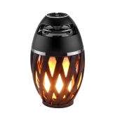 Stylish Flame Lamp Wireless Portable BT Speaker Torch Atmosphere Light USB Charging Stereo Sounbar