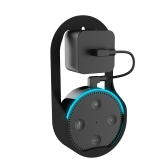 Suporte de suspensão de montagem em parede para Amazon Echo Dot Suporte de 1ª e 2ª geração Home Holder in Living Bathrooms Studying Black