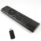 2.4G Télécommande Sans Fil avec USB Récepteur Entrée Voix pour Smart TV Android TV Box HTPC PC Projecteur Noir