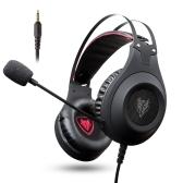 NUBWO N2 3.5mm com fio sobre auriculares de jogo de orelha com microfone