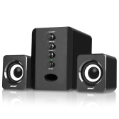 SADA D-202 USB Wired Combination Speakers Computer Speakers Bass Stereo Music Player Subwoofer Sound Box for Desktop Laptop Notebook Tablet PC Smart Phone