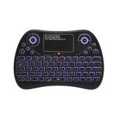 2.4GHz Mini Wireless Keyboard Touch Pad Mouse Combo RGB QWERTY Backlit Keyboard with Rechargeable Battery for Android TV Box Projector PC Laptop Wireless Smart Remote Controller
