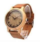 Relógios femininos analógicos artesanais de bambu natural Relógios masculinos moda minimalista relógio de quartzo