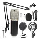 Kit de microphone à suspension professionnel BM800 Ensemble de microphone à condensateur d'enregistrement de diffusion en direct