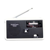 Multiple Use Solar Powered Or Power Generation by Hand FM Radio
