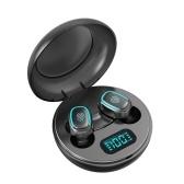 A10 True Wireless Headphones Bluetooth 5.0 Mini TWS Earbuds Sweatproof Sport Headset In-ear Earphones with Mic Charging Case Battery Digital Display