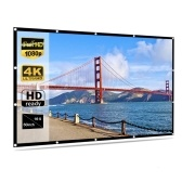 Foldable No Crease Soft Projector Screen Holes Hanging Portable Home Movie Meeting Screen ( 60inch 16:9)