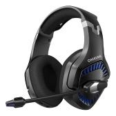 ONIKUMA K1 2.4G PRO 3.5mm / 2.4G Беспроводные игровые наушники с микрофоном Стерео шумоподавляющая микрофонная гарнитура для геймеров, совместимая с PS4 / PC / Xbox-One