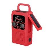 Retekess TR201 Emergency FM / AM / WB / WBAL Радио Солнечная ручная рукоятка портативное радио со светодиодным фонариком 5000 мАч Power Bank SOS Alarm