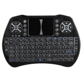 Teclado iluminado 2.4GHz Air Mouse Touchpad Handheld Backlight controle remoto para a TV Android BOX Smart TV PC Notebook