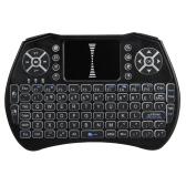 Teclado retroiluminado de 2,4 GHz Wireless Air Mouse Touchpad Handheld de luz de fondo del mando a distancia para la TV Android Smart TV CAJA PC Portátil