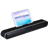 Mini BT Speaker Portable Wireless Soundbar Sound System 3D Stereo Music Surround Support TF AUX USB With Phone Holder