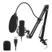 USB Microphone Kit 192KHZ/24BIT Professional Podcast Condenser Mic for PC Karaoke Studio Recording Mic Kit with Sound Card