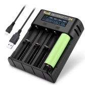 YONII D4 LCD 18650 Battery Charger 4 Slot for 18650 21700 26650 Lithium AA AAA Nimh Battery