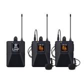 UHF беспроводной микрофон с зажимом для воротника с функцией аудиомонитора для камер смартфонов Интервью на открытом воздухе Прямая трансляция Микрофон с зажимом для галстука