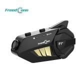 FreedConn F1 Plus Motorcycle Intercom Bluetooth Helmet Headset for Six Motorcycle Riders 1080P HD Lens Video Recorder DVR 1000M Hands-free Interphone FM Radio IP65 Waterproof
