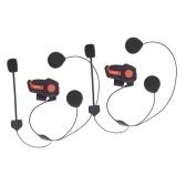 Hysnox HY-01 Motorcycle BT Intercom Helmet Headset 1000M Hands-free Interphone IP66 Waterproof 2 Riders Full Duplex FM Radio for 3 Motorcycle Riders