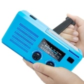 Многофункциональный ручной радиоприемник Погодное радио Использование аварийного фонарика и источников питания COB Лампа для чтения Ручное управление Аварийные радиоприемники SOS Light