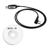 Retevis 2 broches câble de programmation USB 2 Way Talkie Walkie Radio Lead pour BAOFENG UV5R / 888S Retevis H777 BAOFENG Kenwood KPG Kenwood TH Kenwood TK