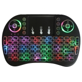 Mouse touchpad con tastiera QWERTY wireless retroilluminata a 2,4 GHz