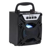 Портативные беспроводные громкоговорители Bluetooth Деревянные стерео звуковые колонки Динамик Светодиодный свет FM-радио Функция AUX TF-слот для карт памяти